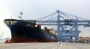 한진해운 사태로 빚어진 물류 차질을 해소하기 위한 현대상선의 첫 대체선박 현대 포워드호가 9일 부산항 신항에 입항, 화물을 선적하고 있다. 이 선박은 부산에서 출발해 광양을 거쳐 20일 로스앤젤레스(LA)에 도착할 예정이다. 2016.9.9