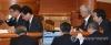 10일 서울 종로구 헌법재판소 대심판정에서 열린 박근혜 대통령 탄핵심판 3차 공개변론에서 이중환 변호사 등 대통령 측 대리인단이 변론 시작을 기다리고 있다. 2017.1.10