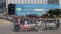 27일 오후 울산 현대중공업 본사에서 부분파업에 들어간 노조원들이 파업 집회를 열고 본관 앞까지 행진하고 있다. 이날 파업에는 회사의 구조조정(분사) 대상 사업부 조합원들만 참여했다. 2016.7.27