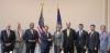 강경화 외교부 장관(왼쪽에서 다섯번째)- 에드 로이스 위원장과 외교위원회 소속 의원