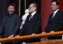 시진핑, 장쩌민·후진타오 전 주석과 열병식 관람