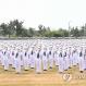 5일 경남 창원시 진해구 해군교육사령부 연병장에서 열린 '제666기 해군병 수료식'에서 해군병이 경례하고 있다. 2020.6.5 [해군 제공